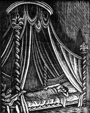 wood-engraving original print: For a Madrigal for Mountains and Molehills by Frances Cornford